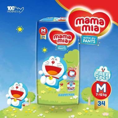 Bandung - Mamamia Doraemon Edition Baby Diapers Pants [Size M/ 36 pcs]