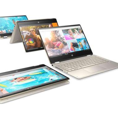 harga Hewlett Packard HP Pav x360 14-dh1033TX Notebook - Gold [8PD64PA] Blibli.com