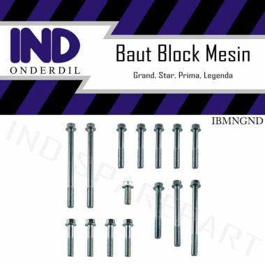 harga IND Onderdil Set Baut Blok Mesin Crank Case Cover Luar Kiri Kanan Motor for Honda Astrea Grand or Star Blibli.com