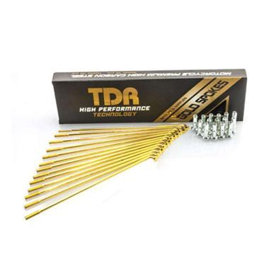 harga TDR CLR Spoke Set Aksesoris Motor - Gold [9/10 x 120] GOLD Blibli.com