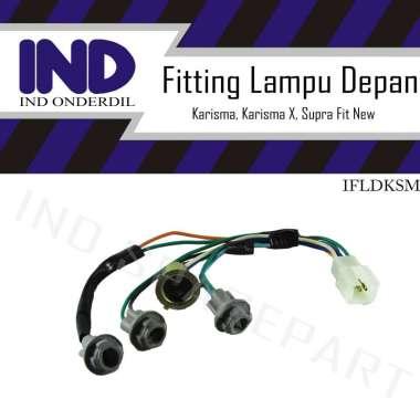 harga IND Onderdil Fitting Soket Lampu Depan Motor for Karisma/ Kharisma X/ Supra Fit New ABU Blibli.com