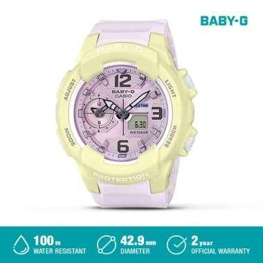 Casio Baby-G LED BGA-230PC-9BDR / BGA-230PC-2BDR / BGA-230PC-6BDR Analog Jam Tangan Wanita Original Putih Kuning