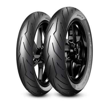 harga Pirelli Diablo Rosso Sport 90/80 & 100/80-14 Sepasang Ban Motor Matic Tubeless + Pentil Blibli.com