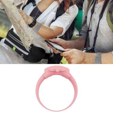 harga OEM Silicone Soap Bracelet Wristband Hand Dispenser Band Bracelet fo Hiking Camping Pink Blibli.com