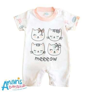 harga Amaris Romper Pendek Meow - Romper Pendek Bayi Perempuan Blibli.com