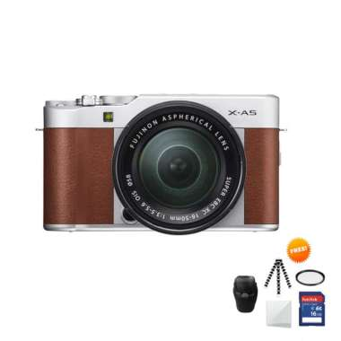 harga Fujifilm X-A5 KIT 15-45 mm Kamera Mirrorless Free Screenguard+ Memory SDHC 16GB+ MIni Folding/Gorillapod+ Filter UV+ Tas Universal Brown Blibli.com