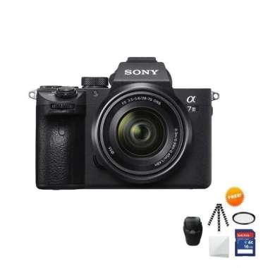 harga Sony Alpha A7 III Kit 28-70mm Free Screenguard+ Memory SDHC 16GB+ Mini folding/Gorillapod+ Filter UV+ Tas Universal Black Blibli.com