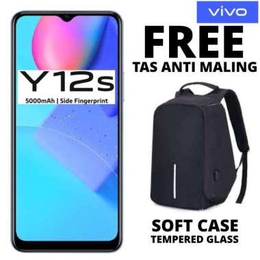 harga Vivo Y12S 3-32 GB Free Tas Anti Maling HITAM Blibli.com
