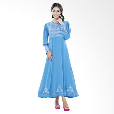Azzura 505-30 Long Dress Muslim Wanita - Biru