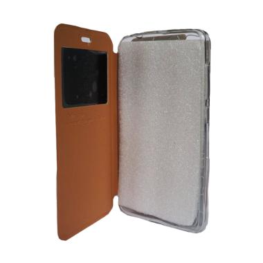 Delkin Flip Cover Casing for Android One X - Gold