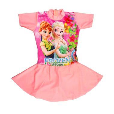 Nice Baju Renang Rok Anak Motif Frozen Fever - Peach