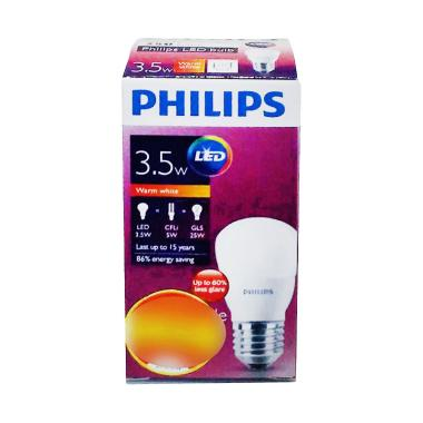 PHILIPS Bohlam Lampu LED - Warm White [3.5 Watt]