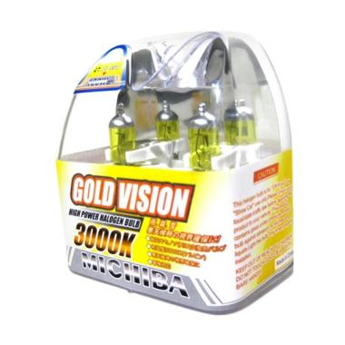 Michiba Gold Vision H4 Bohlam Lampu Mobil - Kuning [12V/100-90W]