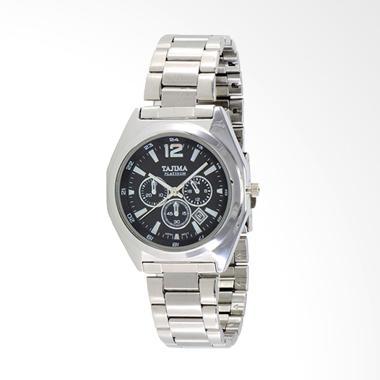 Tajima Analog Watch Date Jam Tangan Pria - Hitam [0086 GC 05]