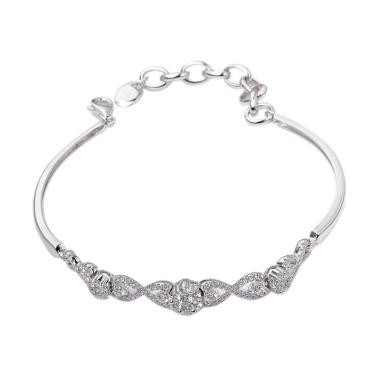 Tiaria DHTXHSL001 Perhiasan Gelang Emas Putih [18K]