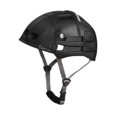 Overade Plixi Foldable Helmet Helm Sepeda - Black