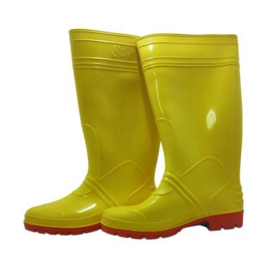 Steffi Karet Sepatu Boots - Kuning [Tinggi 41 cm]