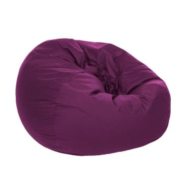 HnR Soerabaja bean bag kursi santai oval - Plum Purple / kursi pantai