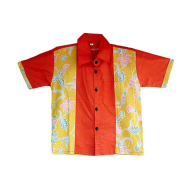 Mayura Batik Dion Kemeja Batik Anak - Orange