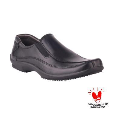 Catenzo MP 124 Austino Kulit Sepatu Formal - Black