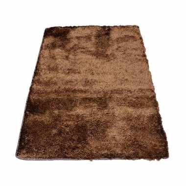 Tren-D-rugs - Karpet Cendol Mengkilat - Coklat Tua [150 x 200 cm]