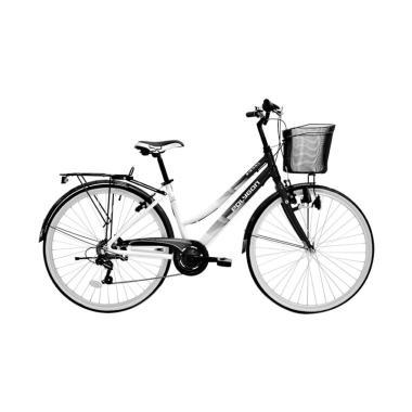Polygon Sierralite 26 Citybike Sepeda - Black White