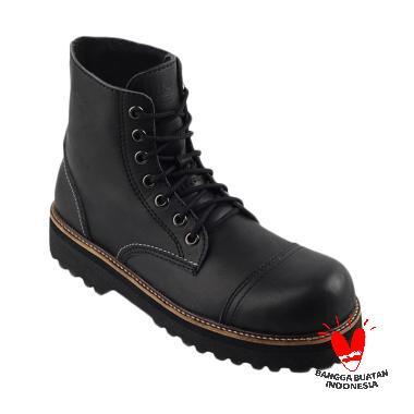 Black master Boots High Sepatu Pria - Black