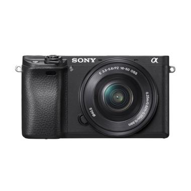 Sony Alpha A6300 Kit 16-50mm Kamera Mirrorless - Hitam + SD Card 64gb