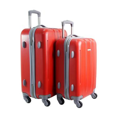 Polo Twin HD 1612 Troley Bag Set - Red [18 dan 22 inch]