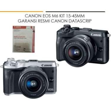 harga New Canon Eos M6 Kit 15-45Mm Is Stm Garansi Resmi Canon Datascrip Laris Hitam Blibli.com
