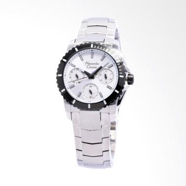 Alexandre Christie 6455 Jam Tangan Wanita - Putih Silver