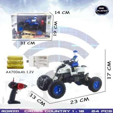 harga RC Rock Crawler Offroad Motor Polisi Mainan Anak Remote Control Radio Control Hobi Koleksi Remot Kontrol RADAR Rdr1111 Putih Blibli.com