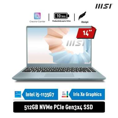 harga MSI MODERN 14-B11MO-072 [Intel I5-1135G7/8GB/512GB SSD/FHD IPS/WIN10] BLUE Blibli.com