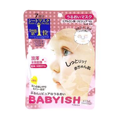 Kose Babyish Clear Turn Pure C Masker Wajah [7 Sheets]