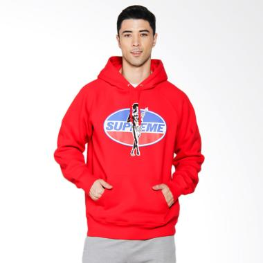 Supreme New York Hysteric Glamour Hooded Sweatshirt in Red