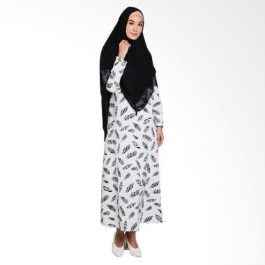 Erin Collection Motif Daun Baju Mus ... an Kerudung Pinguin Hitam