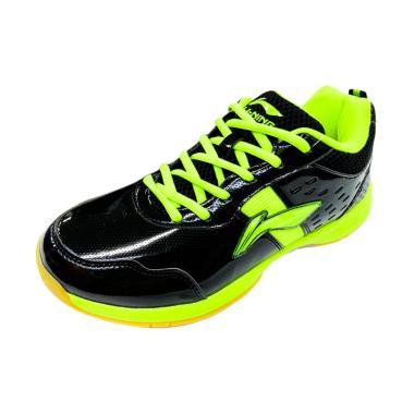 Li-Ning Diva Sepatu Badminton Pria - Black Lime [Original/AYTM059]