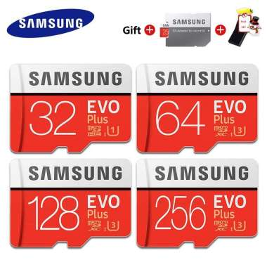 harga Samsung Memory Card Micro SD 32GB 64GB 128GB 256GB 512GB EVO Plus Class 10 Blibli.com