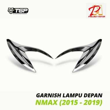 harga Variasi Garnish Aksesoris Lampu Depan Motor Yamaha Nmax Black Blibli.com