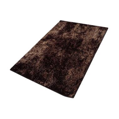 Dinemate Glossy Karpet Cendol - Coklat [150 x 200 cm]