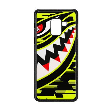 Cococase Troy Lee Designs P51 Hivis Yellow E1528 Custom Casing for Samsung Galaxy A8 2018
