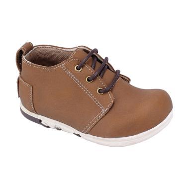 Syaqinah 054 Sepatu Sneaker Anak Laki-Laki - Coklat