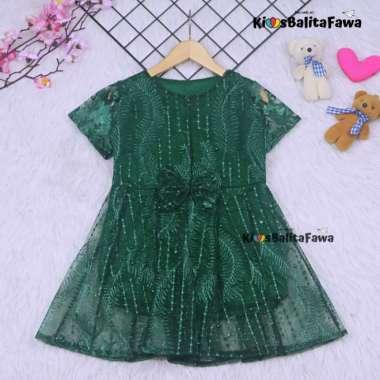 harga Terlaris Dress Raisa uk Bayi - 8 Tahun  Dres Brokat Anak Perempuan Gaun Brukat - 4-5 tahun Murah Blibli.com