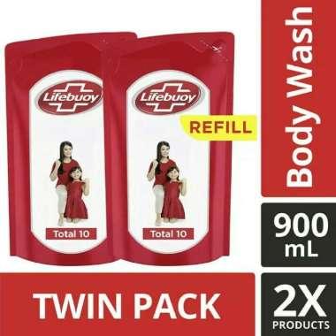 harga Lifebuoy Sabun Mandi Cair Refill Total 10 900 ml Twin Pack - paket isi 2 Blibli.com