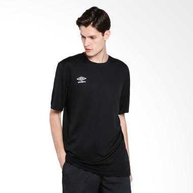 Umbro Poly Small Logo Tee Kaos Olahraga Pria - Black [64565U-090]