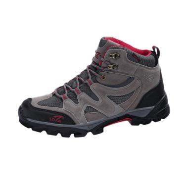 Snta Boots Hiking Sepatu Gunung Pria - Grey Red [491]