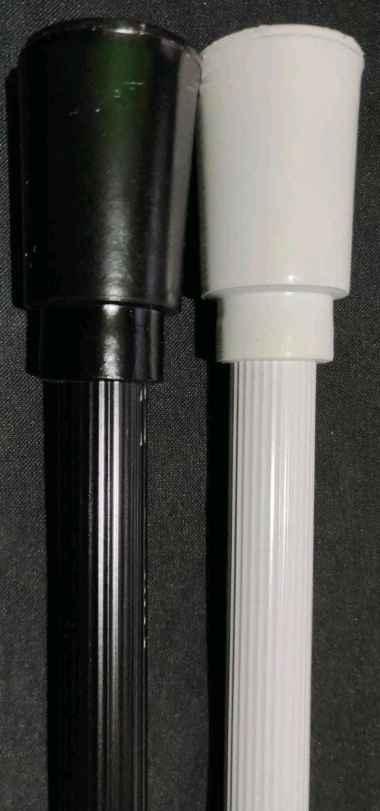 Rel Gorden/Gordyn/Hordeng/Tirai minimalis 150cm (Gold/Coklat/Silver) 1 pcs 60cm Batang Saja Garis Minimalis Black