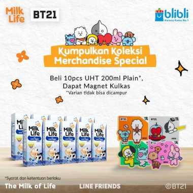 harga MilkLife Murni – UHT Teens Tetra Slim Leaf [200 mL/10 pcs] + Free Magnet Kulkas BT21 Blibli.com