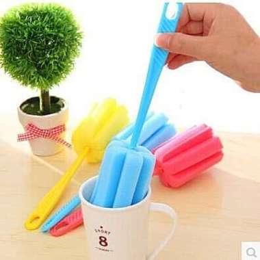 harga Sikat Botol Sponge Bottle Brush Spons Pembersih Tempat Wadah Susu Bayi Blibli.com