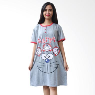 Aily ALY062 Motif Doraemon Daster Wanita - Merah